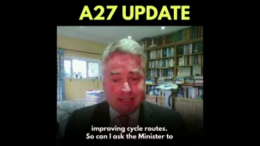 Embedded thumbnail for A27 Update in Parliament